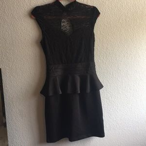 Venus Lace black peplum dress size M